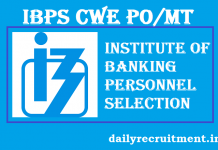 IBPS CWE PO VII Notification 2017