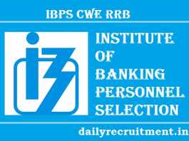 IBPS CWE RRB VI Notification 2017
