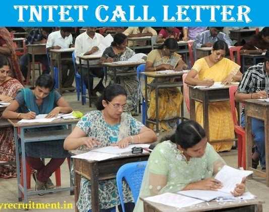 TNTET Call Letter 2017