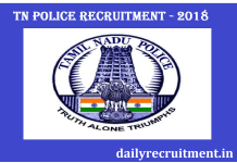 Tamilnadu Police Recruitment 2018