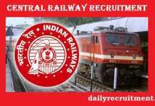 Central Railway Recruitment 2017