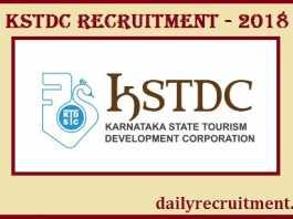 KSTDC Recruitment 2018