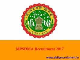 MPSDMA Recruitment 2017