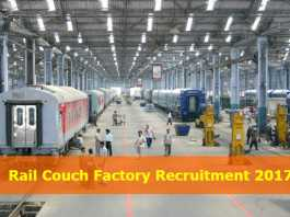 Rail Couch Factory Recruitment 2017