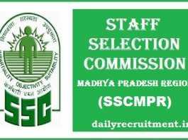 SSCMPR Recruitment 2017