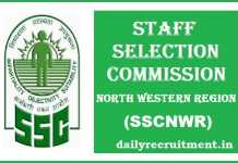 SSCNWR Recruitment 2017