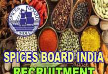 spices board india recruitment 2018