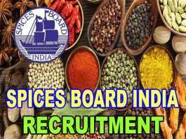 spices board india recruitment 2018