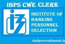IBPS CWE Clerk VII Notification 2017