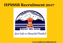 hpsssb Recruitment 2017