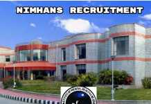 NIMHANS Recruitment 2018