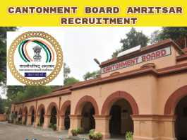 Cantonment Board Amritsar Recruitment