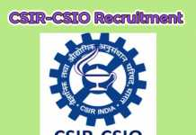 CSIR-CSIO Recruitment