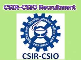 CSIR-CSIO Recruitment