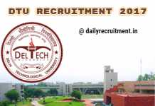 DTU recruitment 2017