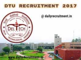 DTU recruitment 2017