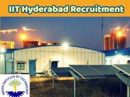 IIT Hyderabad Recruitment 2017