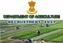 Tripura Agriculture Department Recruitment 2017