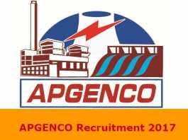 APGENCO Recruitment 2017