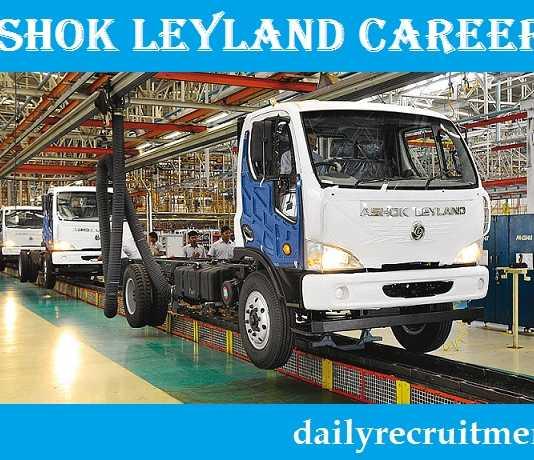Ashok Leyland Recruitment 2017