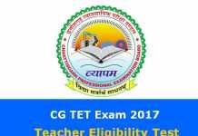 CG TET Exam 2017