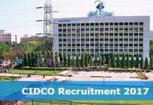 CIDCO Recruitment 2017