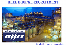 BHEL Bhopal Recruitment 2017