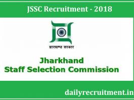 JSSC Recruitment 2018