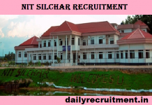 NIT Silchar Recruitment 2017