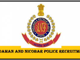 Andaman & Nicobar Police Recruitment 2017