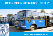 BMTC Recruitment 2017