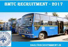 BMTC Recruitment 2017