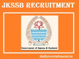 JKSSB Recruitment 2017