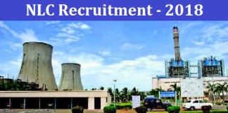 NLC Recruitment 2018