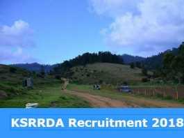 KSRRDA Recruitment 2018