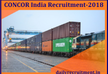 CONCOR India Recruitment 2018