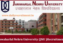 JNU Recruitment 2018