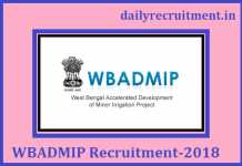 WBADMIP Recruitment 2018