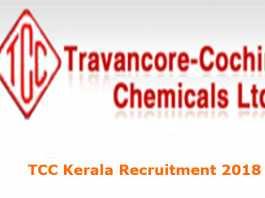 TCC Kerala Recruitment 2018