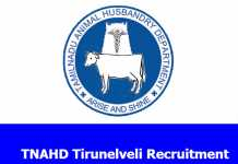 TNAHD Tirunelveli Recruitment