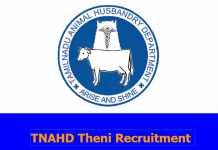 TNAHD Theni Recruitment