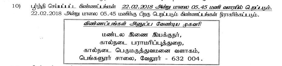 vellore-tnahd-address