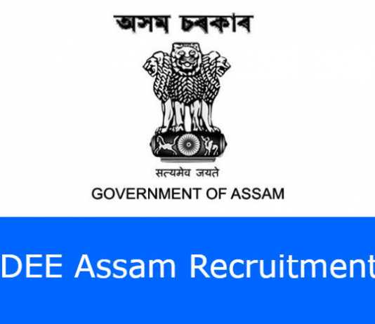 DEE Assam Recruitment