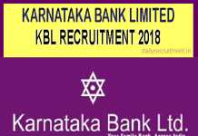 Karnataka Bank Recruitment 2018