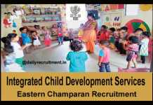 ICDS East Champaran Recruitment 2018