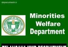 Telangana MWD Recruitment 2018