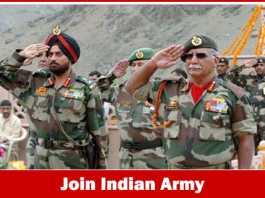 Join Indian Army Recruitment 2019