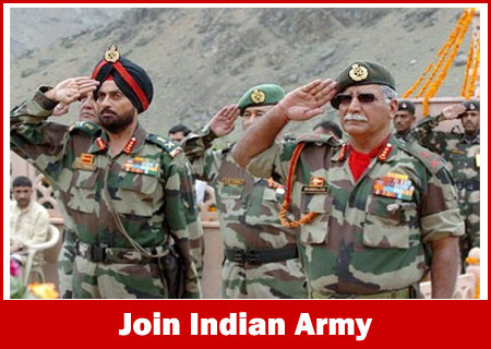 Join Indian Army Recruitment 2020