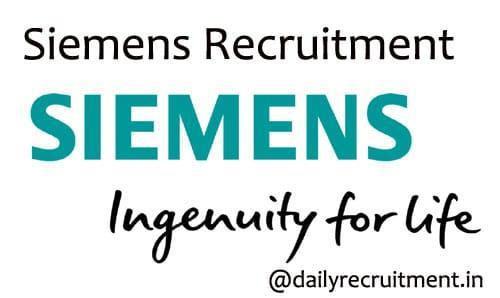 Siemens Recruitment 2020
