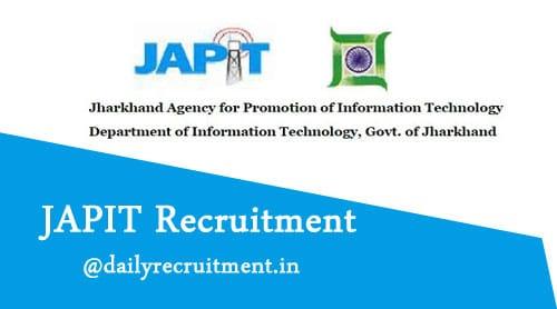 JAPIT Jharkhand Recruitment 2019